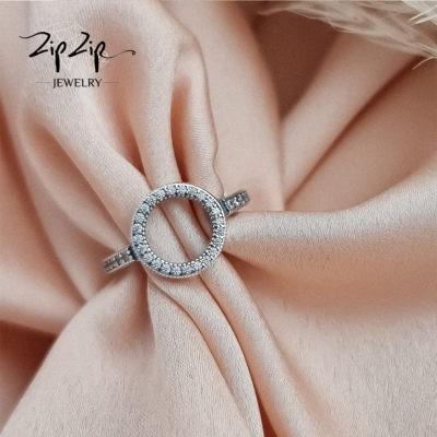 """טבעת כסף 925 ''מעגל החיים"""" מעוטרת אבני זרקון"""