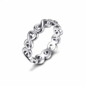 טבעת כסף 925 משלובת בצורת אינפיניטי