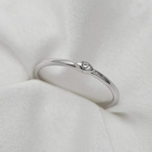 טבעת כסף 925 בשילוב עין כסופה משולבת זרקון שקוף
