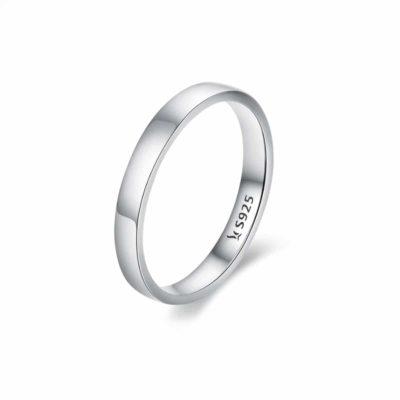 """טבעת כסף 925 """"רון"""" חלקה RZ456"""