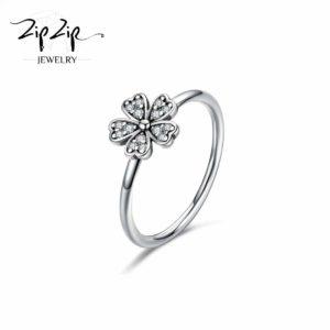 טבעת כסף 925 בשילוב תלתן RZ416