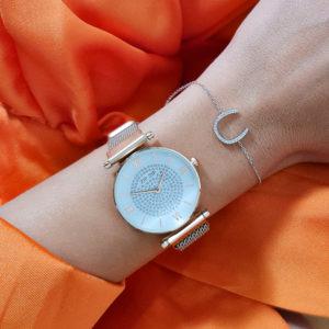 """שעון מגנט """"ניו יורק"""" סטינלס סטייל רוז גולד"""