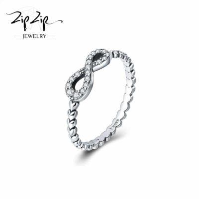 """טבעת כסף 925 """"ריאנה"""" בשילוב אינפיניטי משובץ"""