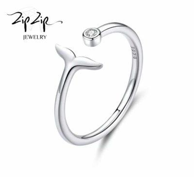 """טבעת כסף 925 גמישה בשילוב סנפיר ליוויתן """"ספיר"""""""