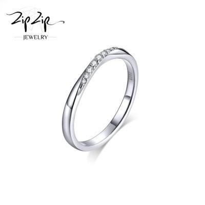 """טבעת כסף 925 """"ז'ה טם"""" זרקוניה משובצת RZ436"""