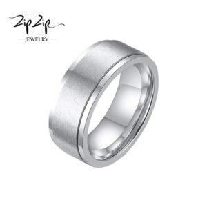 """טבעת מסתובבת לגבר """"אנדי"""" Stainless Steel כסף"""
