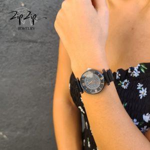 """שעון מגנט """"ניו יורק"""" סטינלס  סטייל שחור"""