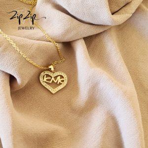 שרשרת ציפוי זהב 14K אהבה לאמא