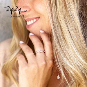 """טבעת כסף 925 """"נאפולי"""" זיגזג"""