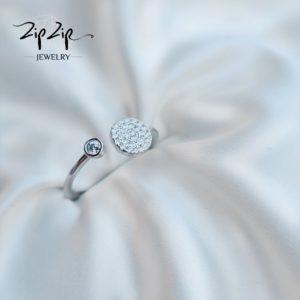 טבעת כסף 925 גמישה ג'ולייט משובצת וזרקון