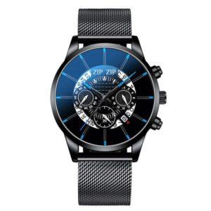 """שעון מגנט """"דאלי"""" - סטיינלס סטיל שחור"""