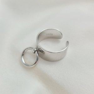 """טבעת כסף 925 גמישה """"אנבל"""" לולאה"""