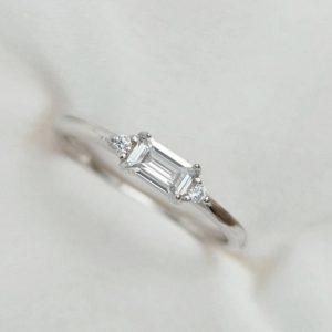טבעת כסף 925 ''וונדי'' מלבן בגטים